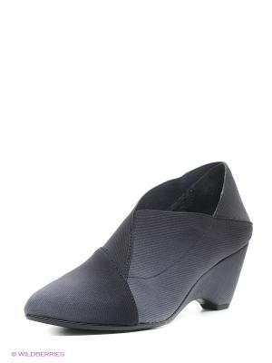 Туфли UNITED NUDE. Цвет: антрацитовый, темно-серый