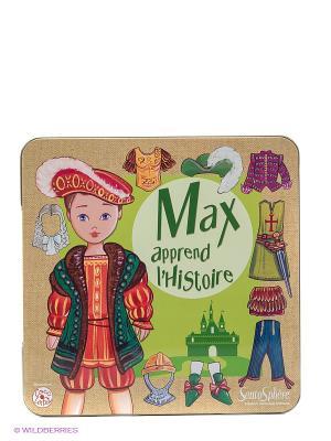 Настольная игра магнитная Макс изучает историю SENTOSPHERE. Цвет: бежевый