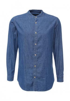 Рубашка джинсовая ADPT. Цвет: синий