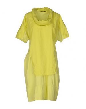 Платье до колена OBLIQUE CREATIONS. Цвет: кислотно-зеленый