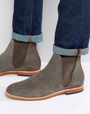 Hudson London Замшевые ботинки челси Eldon. Цвет: серый