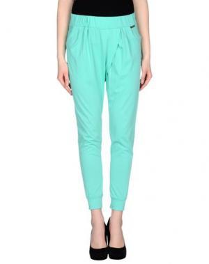 Повседневные брюки PDK. Цвет: светло-зеленый