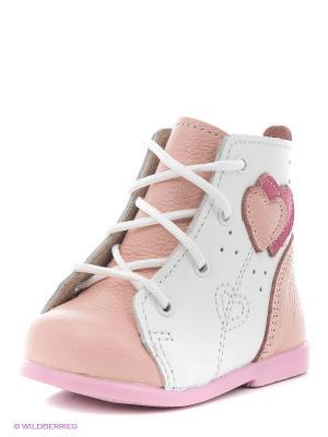 Ботинки Детский скороход. Цвет: розовый, белый