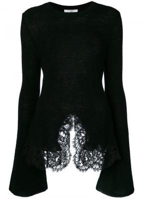 Топ с кружевной вставкой Givenchy. Цвет: чёрный