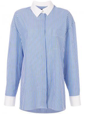 Рубашка в полоску Alexandre Vauthier. Цвет: синий