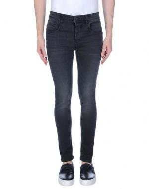 Джинсовые брюки YES ZEE by ESSENZA. Цвет: черный