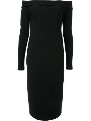Платье с открытыми плечами Dion Lee. Цвет: чёрный