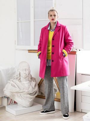 Пальто - BASIC Violeta by Mango. Цвет: фуксия