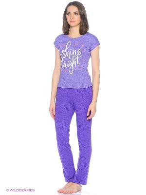 Комплект домашней одежды ( футболка, брюки) HomeLike. Цвет: сиреневый