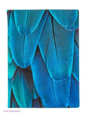 Обложка для паспорта Feather blue Kawaii Factory. Цвет: синий