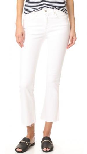 Укороченные расклешенные джинсы Maxwell Baldwin Denim. Цвет: оптический белый