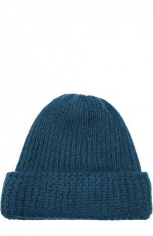 Вязаная шапка из смеси шерсти и мохера Tak.Ori. Цвет: синий