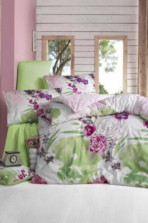 Double Quilt Cover Set Victoria. Цвет: green, fuchsia, white