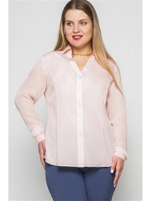 Рубашка Limonti. Цвет: персиковый