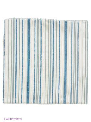 Декоративная наволочка 43х43, молния, бело-голубые полоски Asabella. Цвет: белый, голубой