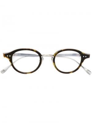 Оправа для очков с узором черепашьего панциря Dita Eyewear. Цвет: коричневый