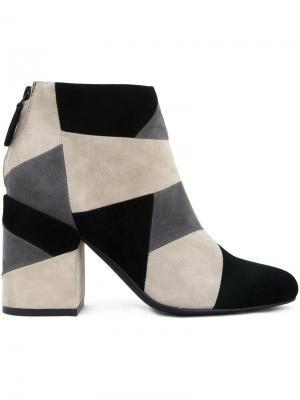 Ботинки по щиколотку Jessica Senso. Цвет: серый