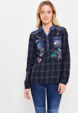 Рубашка Desigual. Цвет: зеленый
