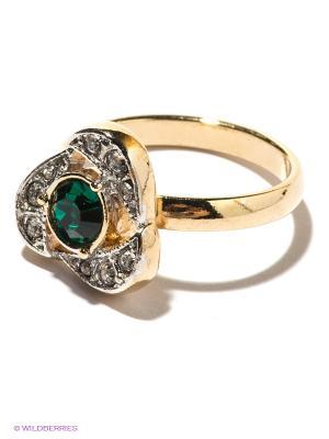 Кольцо Jenavi. Цвет: зеленый, золотистый