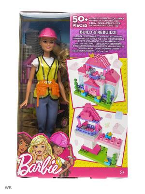 Игровой набор Строитель Barbie. Цвет: синий