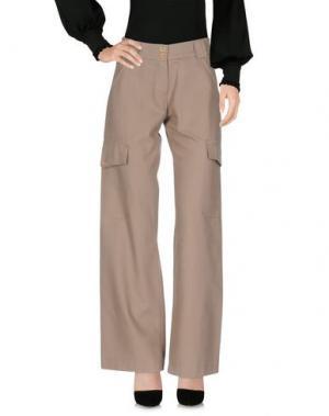 Повседневные брюки LALTRAMODA. Цвет: зеленый-милитари