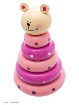 Деревянная игрушка пирамида Фабрика Фантазий. Цвет: бежевый
