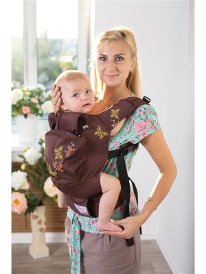 Эргономичный рюкзак Мотылёк Sling Me. Цвет: темно-коричневый