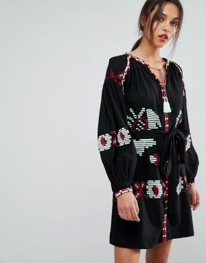 Essentiel Antwerp Платье с длинными рукавами Ophism. Цвет: черный