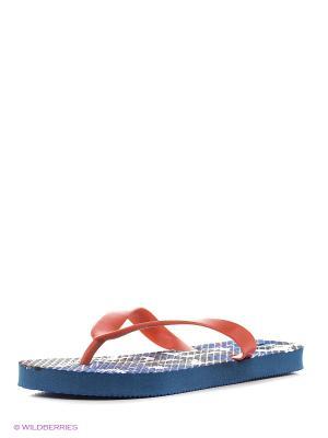 Пляжная обувь детская Mon Ami. Цвет: синий, черный
