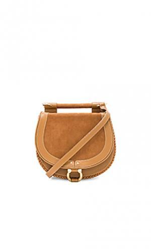 Круглая сумочка babylon Sancia. Цвет: цвет загара