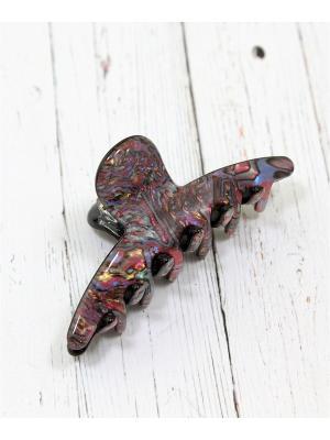 Заколка-краб Vel Vett. Цвет: лазурный, бордовый, золотистый