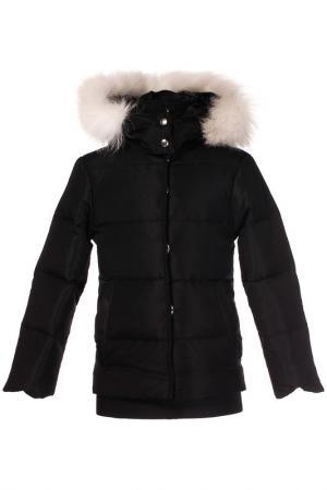 Куртка LOVE MADE. Цвет: черный