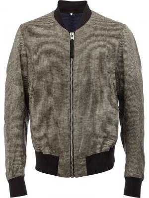 Куртка-бомбер Ziggy Chen. Цвет: серый