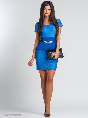 Платье TOPSANDTOPS. Цвет: синий