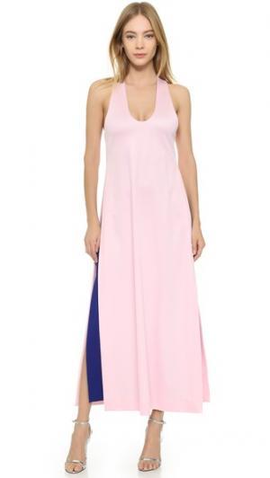 Многослойное платье без рукавов Josh Goot. Цвет: розовый/кобальтовый
