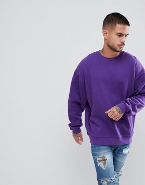 ASOS Фиолетовый свитшот oversize от. Цвет: фиолетовый