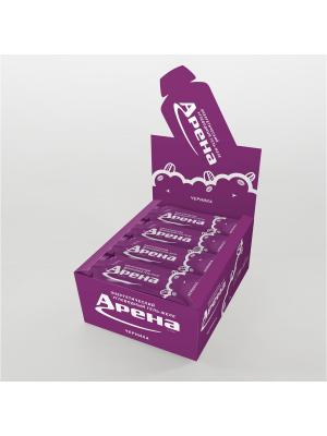 Углеводный гель Арена Первая со вкусом черники, 24 штуки в упаковке. Цвет: желтый