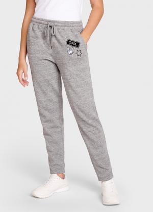 Утеплённые брюки с нашивками OSTIN. Цвет: стальной