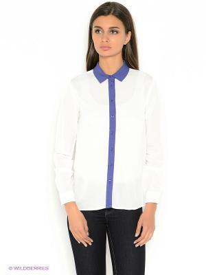 Блузка TOM FARR. Цвет: белый, фиолетовый