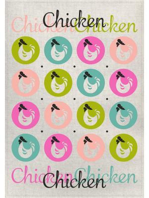 Полотенце Петушки в шарах GrandStyle. Цвет: бирюзовый, хаки, салатовый, розовый