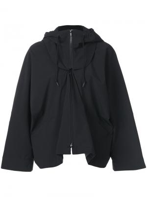 Layered hooded jacket Y-3. Цвет: чёрный