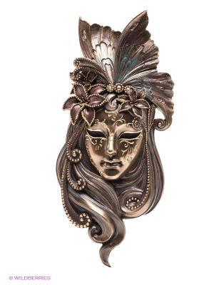 Венецианская маска Лилия Veronese. Цвет: бронзовый
