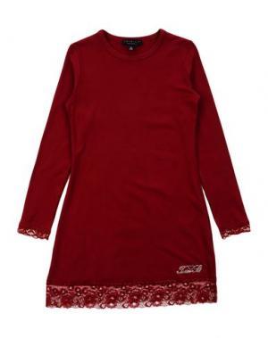 Платье TWIN-SET Simona Barbieri. Цвет: красно-коричневый