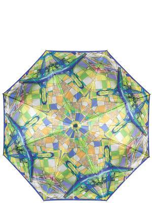Зонт Eleganzza. Цвет: синий, салатовый, светло-оранжевый