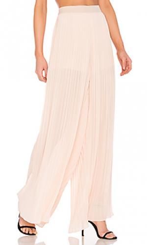 Плиссированные брюки палаццо Endless Rose. Цвет: розовый