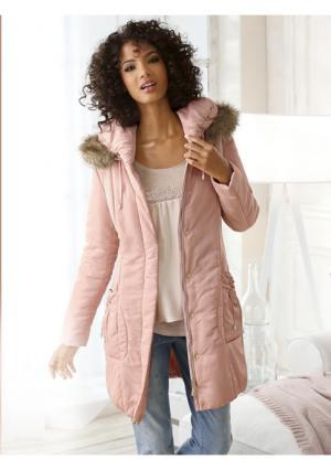 Стеганое пальто Linea Tesini. Цвет: розовый