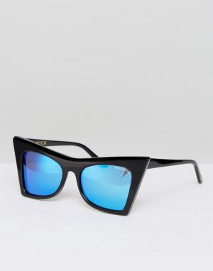 Wildfox Солнцезащитные очки с зеркальными стеклами. Цвет: черный