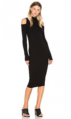 Платье миди tiff sen. Цвет: черный