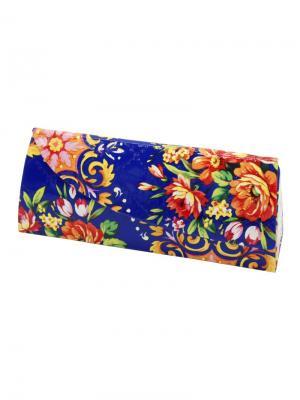 Футляр для очков Цветы 15900-2-С04 Germes. Цвет: синий