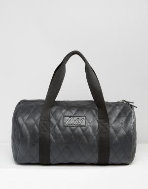 Heist Стеганая сумка дафл из искусственной кожи. Цвет: черный